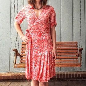 DIANE VON FURSTENBURG 100% silk wrap dress